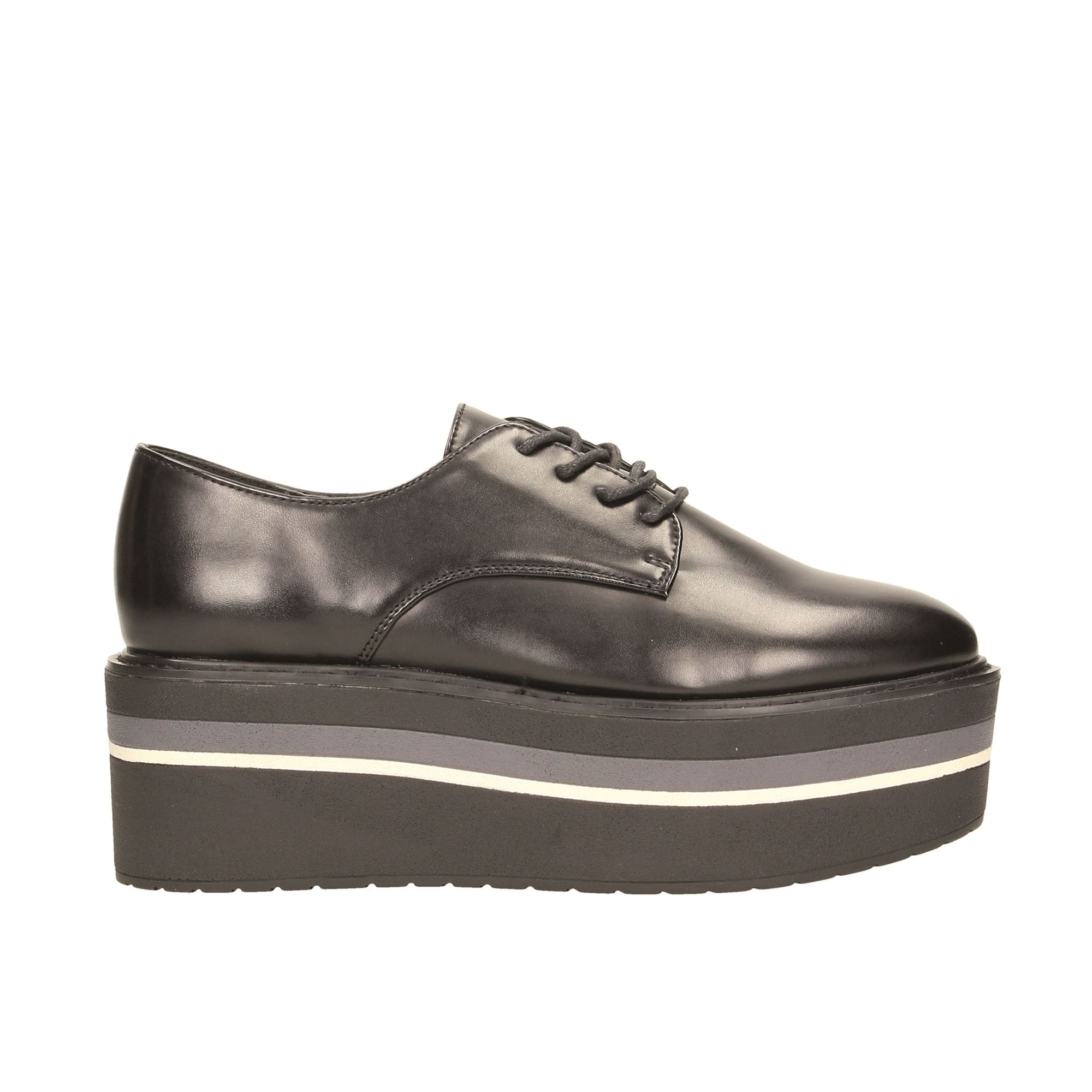 Tata Italia Shoes Woman Derby Black E717-12