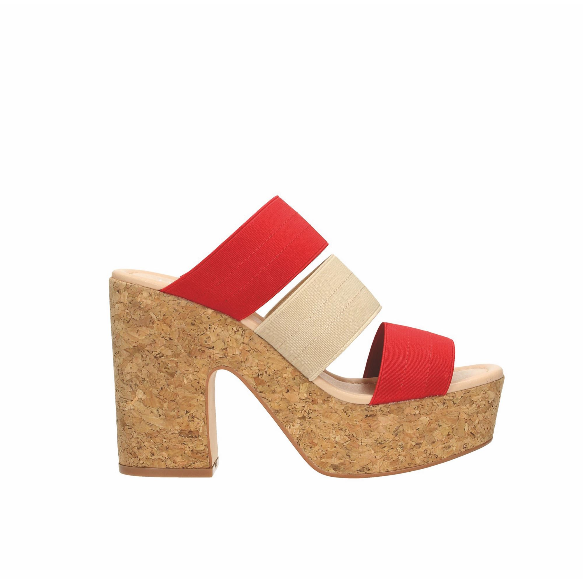 Tata Italia Shoes Woman Sandali Beige/red S3094P-06