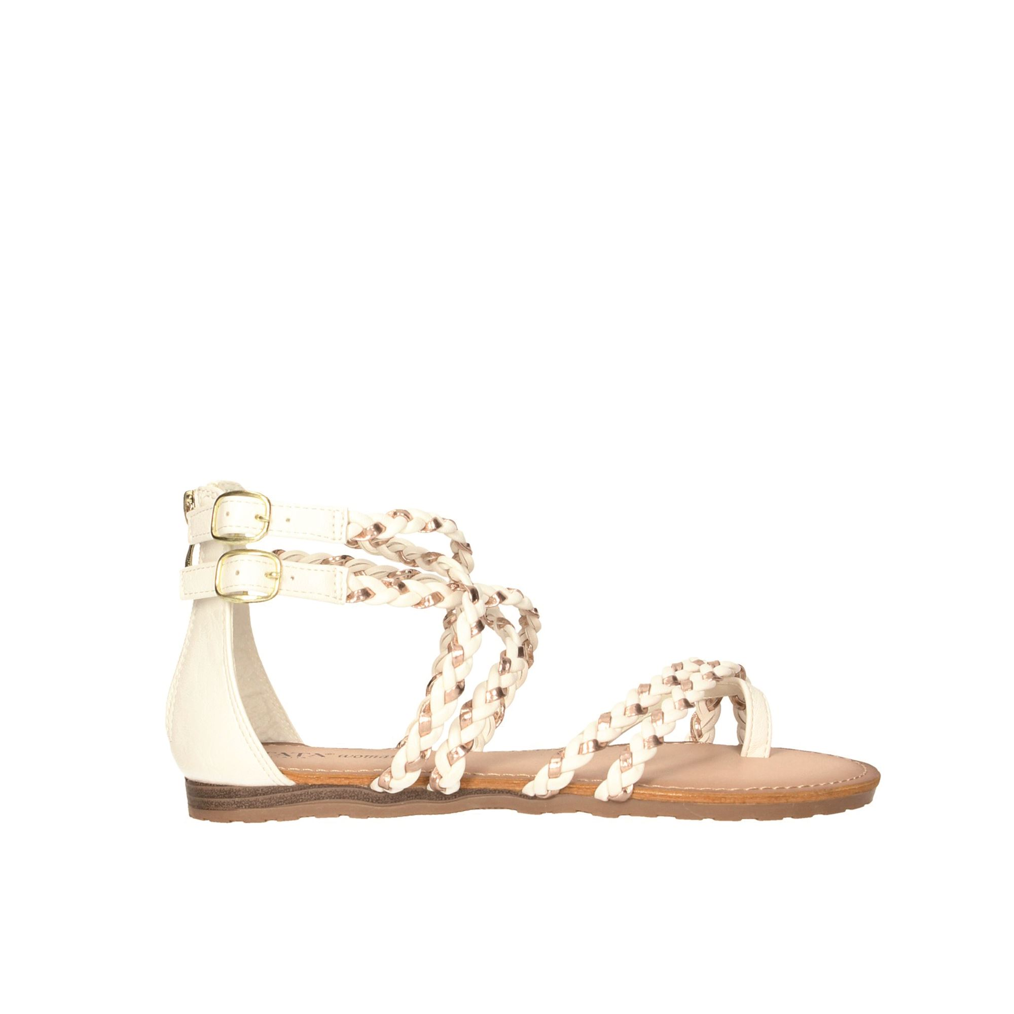 Tata Italia Shoes Woman Sandali White/rose/gold 6211