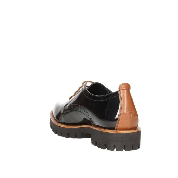 Tata Italia Shoes Woman Derby Nero/tan C593