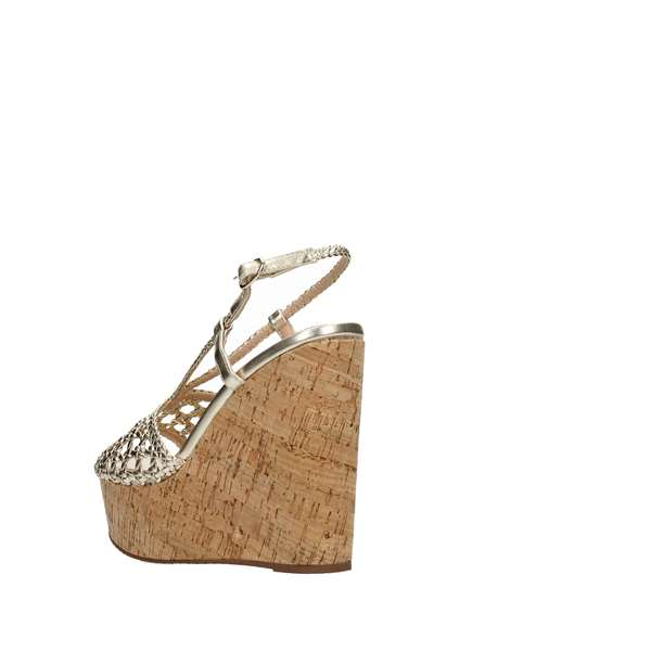 Tata Italia Shoes Woman Sandali Gold DS217-94
